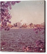 Jefferson Memorial During Spring Acrylic Print
