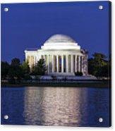 Jefferson Memorial Dusk Acrylic Print