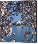 Jefferson Memorial On The Tidal Basin Ds051 Acrylic Print by Gerry Gantt