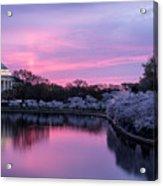 Jefferson Memorial Sunrise Acrylic Print