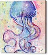 Jelly Fish Watercolor Acrylic Print