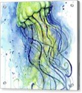 Jellyfish Watercolor Acrylic Print