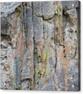 Jenn Krogue Climbs A Route Called Thin Slice Which Is Rated 5.10 Acrylic Print