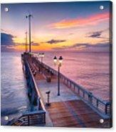 Jennette's Pier - Dawn 7080 Acrylic Print