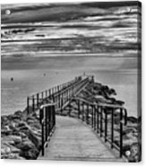 Jennings Beach Dock Acrylic Print