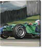 Jenson Button, Honda Ra107  Acrylic Print