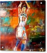 Jeremy Lin New York Knicks Acrylic Print by Leland Castro