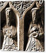 Jerpoint Abbey Irish Tomb Weepers Saints County Kilkenny Ireland Sepia Acrylic Print