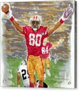 Jerry Rice The Greatest Acrylic Print