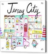 Jersey City Acrylic Print