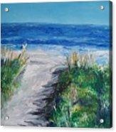 Jersey Shore Dunes  Acrylic Print