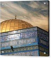 Jerusalem - Dome Of The Rock Sky Acrylic Print