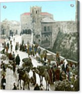 Jerusalem: Bazaar, C1900 Acrylic Print