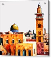 Jerusalem Domes And Minarets Acrylic Print