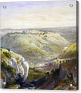 Jerusalem From The South Acrylic Print