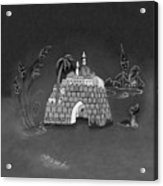 Jerusalem Israel In Monochrome Acrylic Print