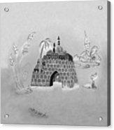 Jerusalem Israel In Negative Acrylic Print