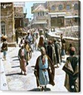 Jerusalem Street Scene Acrylic Print