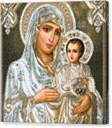 Jerusalem Theotokos Acrylic Print by Stoyanka Ivanova