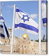 Jerusalem Wailing Wall Acrylic Print