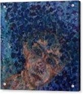 Jess In Blue Acrylic Print