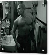 Jesse After Shaving His Head Acrylic Print