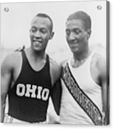 Jesse Owens 1913-1980 With Ralph Acrylic Print by Everett