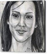 Jessica Alba Portrait Acrylic Print