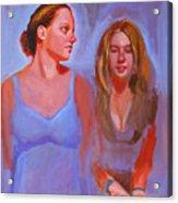Jessica And Kate Acrylic Print