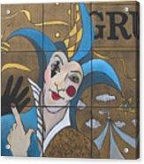 Jester In Blue Acrylic Print by Susanne Clark