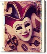 Jester Mask Acrylic Print