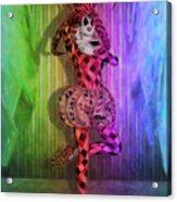 Jester Rainbow Girl  Acrylic Print