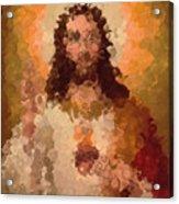 Jesus Abstract Acrylic Print