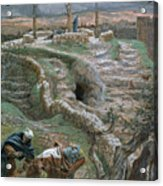 Jesus Alone On The Cross Acrylic Print