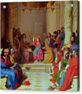 Jesus Among The Doctors Acrylic Print