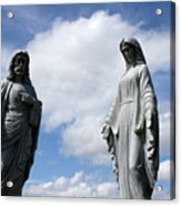 Jesus And Mary Acrylic Print