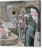 Jesus And The Little Child Acrylic Print by Tissot