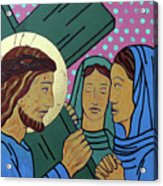 Jesus And The Women Of Jerusalem Acrylic Print