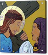 Jesus And Veronica Acrylic Print