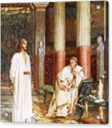 Jesus Being Interviewed Privately Acrylic Print by William Brassey Hole