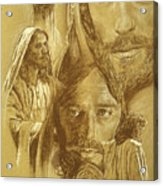 Jesus Acrylic Print by Bryan Dechter