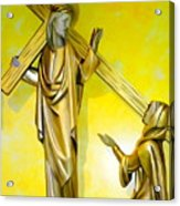 Jesus Carries The Cross Acrylic Print
