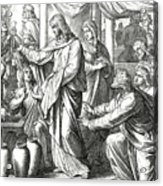 Jesus Changes Water Into Wine, Gospel Of John Acrylic Print
