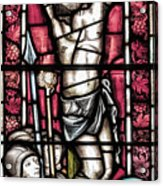 Jesus Christ Crucifixtion Stained Glass Acrylic Print