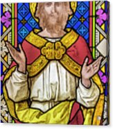 Jesus Christ Stained Glass Acrylic Print