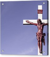 Jesus Crucifix Against The Sky Acrylic Print