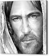Jesus Face Acrylic Print