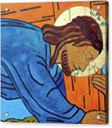 Jesus Falls Under The Cross Acrylic Print
