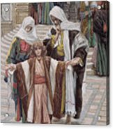 Jesus Found In The Temple Acrylic Print by Tissot