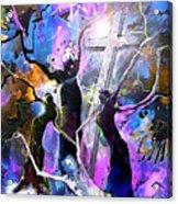 Jesus From Cross Acrylic Print